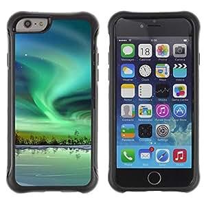 Suave TPU GEL Carcasa Funda Silicona Blando Estuche Caso de protección (para) Apple Iphone 6 / CECELL Phone case / / Nature Beautiful Forrest Green 56 /