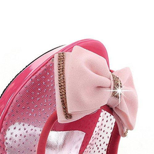 Femme Matière Petite Talon à Hauts VogueZone009 Couleur Unie Sandales Souple Talons Rouge Haut Ouverture à Tire qTxwdw50WA