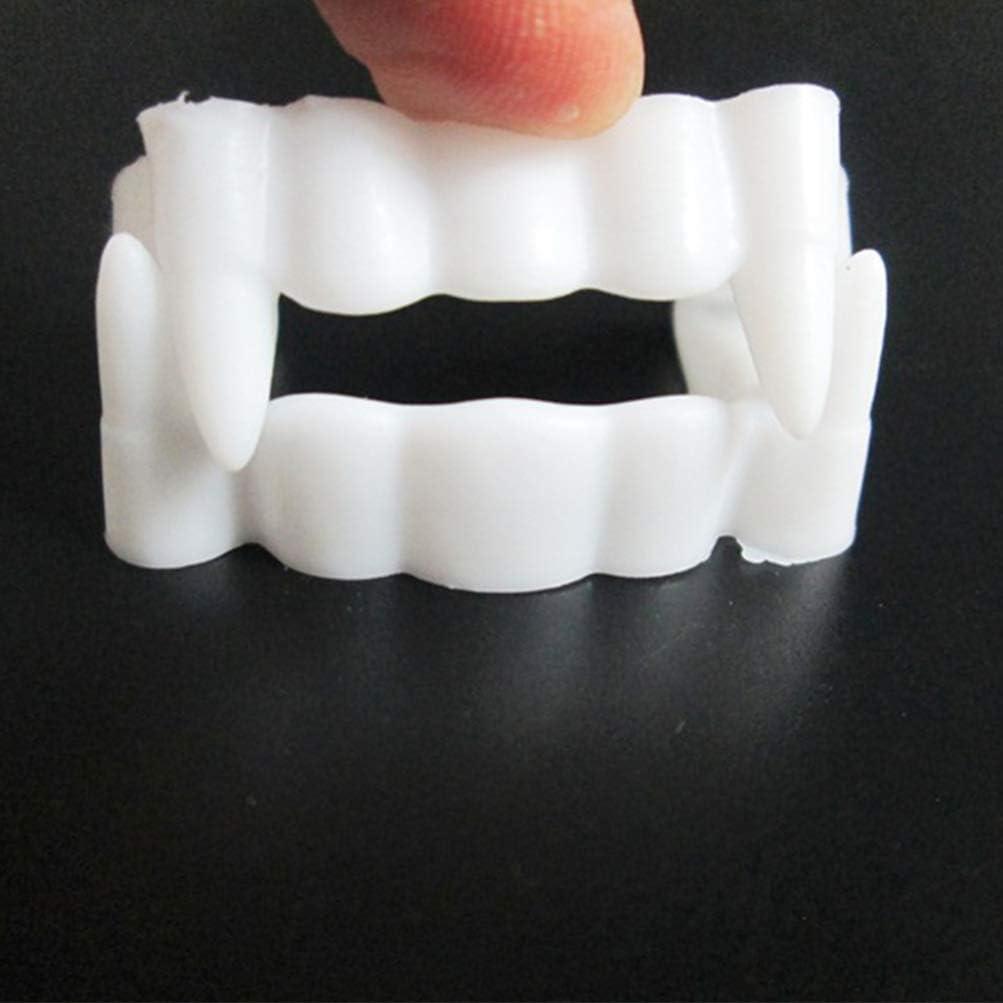 STOBOK 10pcs Halloween Vampire Teeth Vampire Fangs Plastic Teeth Cosplay Fang Props for Halloween Costume Party Supplies