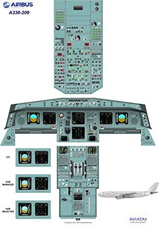 Airbus A330-200 Cockpit Poster - Digital download