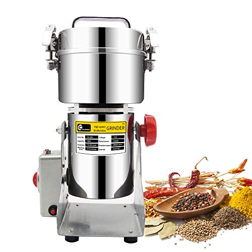 CGOLDENWALL 300g Stainless Steel Electric high-Speed Grain Grinder Mill Family medicial Powder Machine Commercial Cereals Grain Mill Herb Grinder,Pulverizer 110v Gift for mom, Wife (Best Popcorn Maker Canada)
