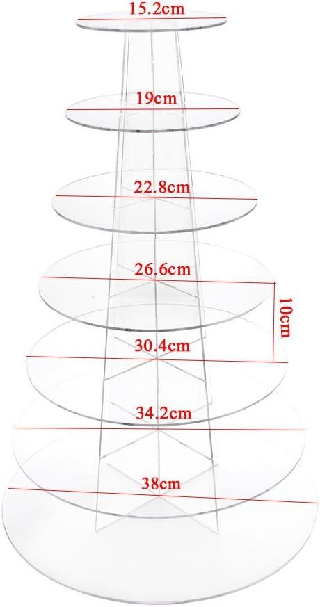 5 Ebenen, rund Acryl Kuchenst/änder Fobuy Cupcake-St/änder