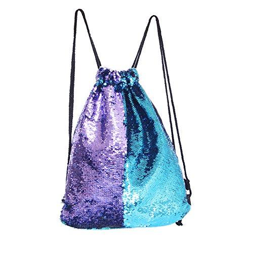MHJY Mermaid Bag Sequin Drawstring Backpack Dancing Bag Fashion Dance Bag Sequin Backpack Flip Sequin Bling Hiking Bags
