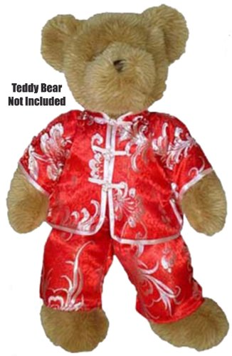 "China Doll Outfit Fits Most 14"" - 18"" Build-a-bear, Vermont Teddy Bears, and Make Your Own Stuffed Animals"