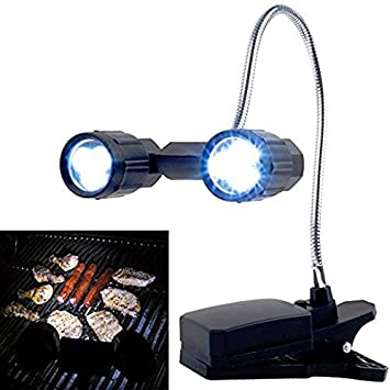 OWIKAR LED Barbeque Grill Light, 360°Rotation Adjustable Outdoor BBQ Clamp  Lamp Lighting,