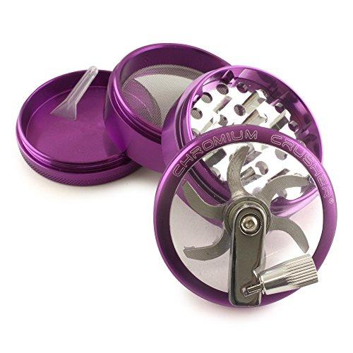 Chromium Crusher Purple 4 Piece Tobacco Spice Herb Grinder -