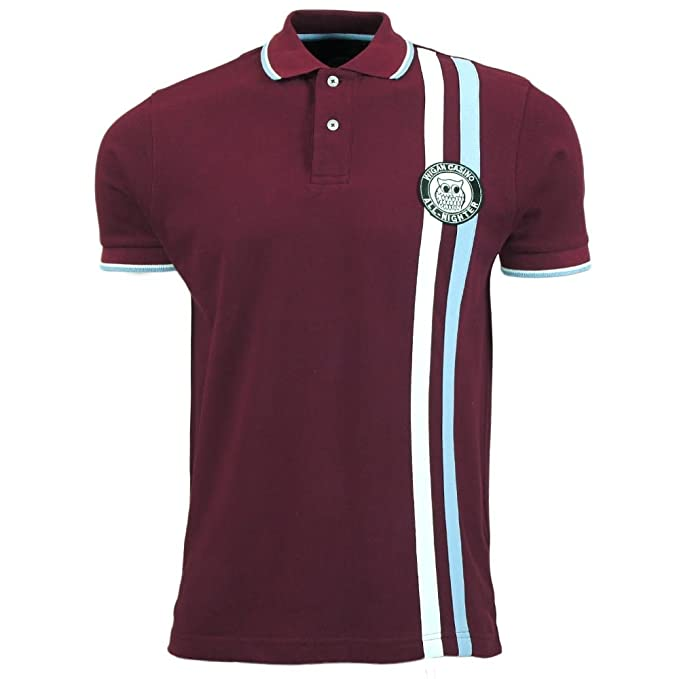 Wigan Casino Polo Camiseta para Hombre Retro Twin Rayas Marrón Top ...