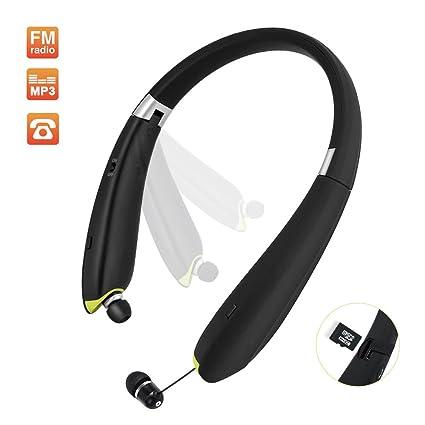 Auriculares deportivos plegables Bluetooth con radio FM ...