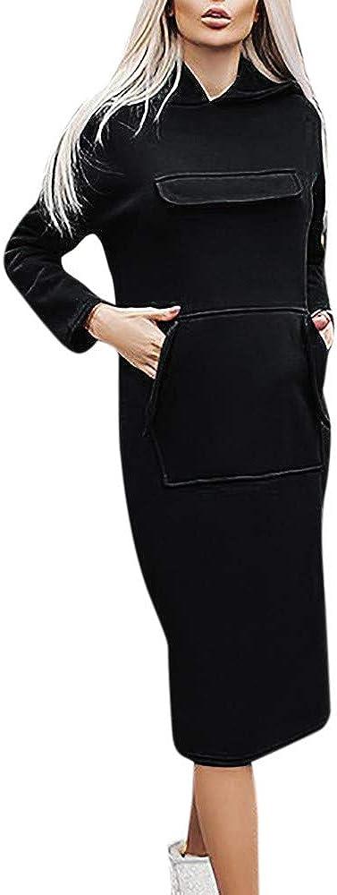 Trada Autunno Donne Cappuccio Vestito Caviglia-Lunghezza Lungo Manica Elegante Casuale Felpe con Cappuccio Lungo Abiti per Outwear Sottile in Forma