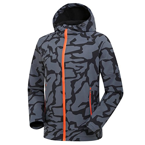 Waterproof Soft Zhuhaitf Camouflage Sports Jacket Outdoor Shell Bello Gray Men gxaawq6I