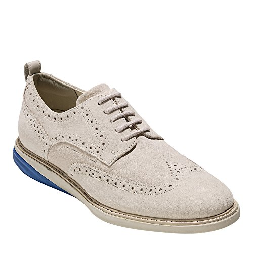 Cole Haan Men's GrandEvOlution Wingtip Oxford 10 Pumice Stone Suede-limoges-pumice Stone by Cole Haan