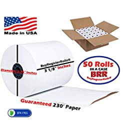 3 1/8 x 230 thermal paper roll 50 pack (...