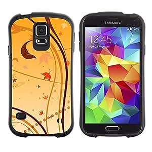 Suave TPU GEL Carcasa Funda Silicona Blando Estuche Caso de protección (para) Samsung Galaxy S5 / CECELL Phone case / / Wallpaper Nature Leaves Autumn Yellow /