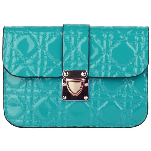 Price comparison product image Blue Quilted Women's Clutch Wallet Pouch for Nokia Lumia 630,  635,  Icon,  730