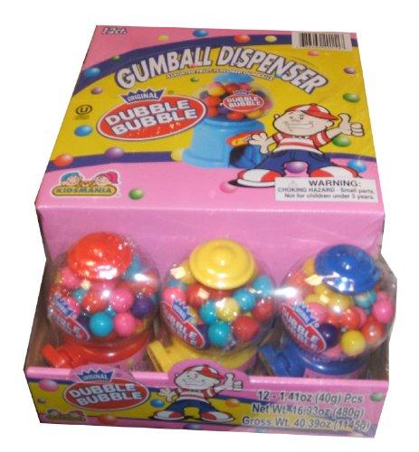 (Dubble Bubble Mini Dispenser 12 Pack-1.41 OZ.)