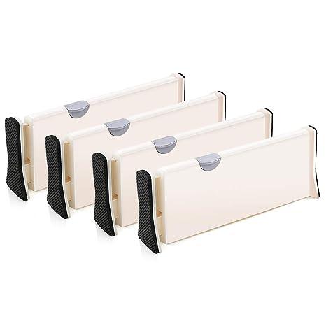 4er-Set Schubladen-Organizer Schubladenteiler verstellbarer Trennelemente  Schublade organisieren - Schubladeneinsatz für Küchen- & ...