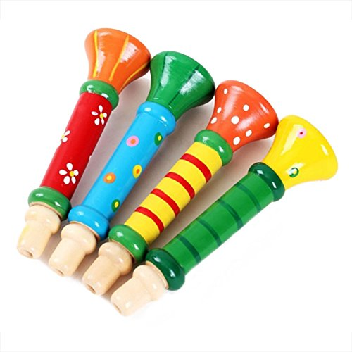 Colorful Musical Instrument Trumpet Buglet Educational Suona Toy for Baby Kid Children,3PCS ()