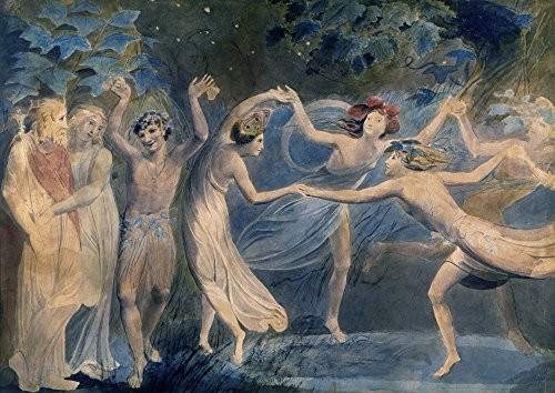 Dancing Fairies Collection (Blake Fairies C1786 Noberon Titania And Puck Dancing With Fairies In A Scene From William ShakespeareS A Midsummer NightS Dream Painting By William Blake C1786 Poster Print by (18 x 24))