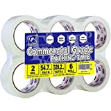 """Perfectape Packing Tape Clear 6 Rolls, 1.88"""" x 50m, Total 300m, Shipping Packaging Tape Refill Rolls - Manufacturer Sell, Quality Assured"""