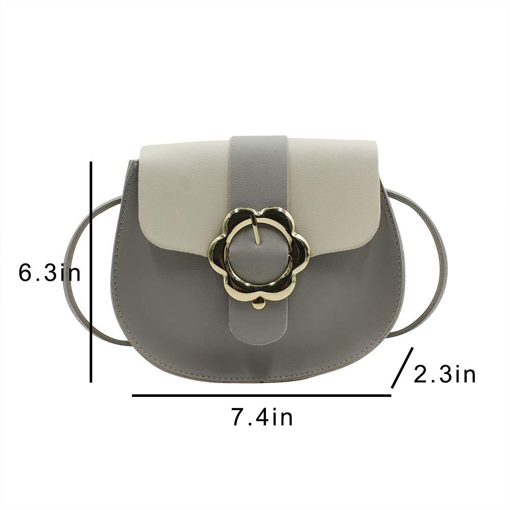 Women Girls Leather Saddle Bag Crossbody Purse Shoulder Bag Satchel
