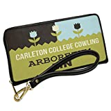 Wallet Clutch US Gardens Carleton College Cowling Arboretum - MN with Removable Wristlet Strap Neonblond