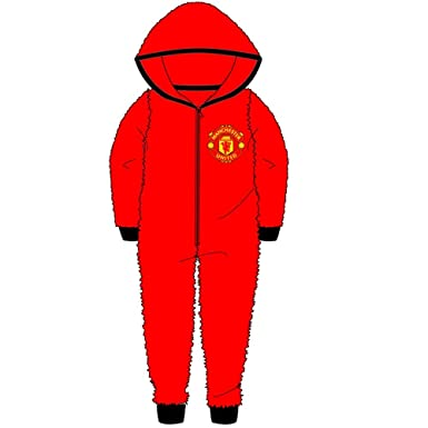 21d20f010 Kids Boys Girls Manchester United Football Onesie All in One Sleepsuit Man  United - Sizes 3-12 Years  Amazon.co.uk  Clothing