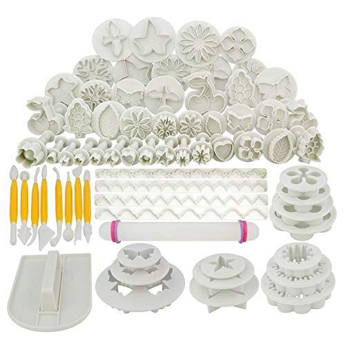 68pcs/set DIY Cake Mould Tools/Flower Fondant Cake Sugarcraft Decorating Kit Cookie Mould Icing Plunger Cutter -