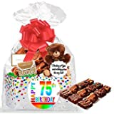 75th Birthday / Anniversary Gourmet Food Gift Basket Chocolate Brownie Variety Gift Pack Box (Individually Wrapped) 12pack