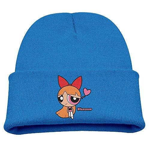 Blossom Powerpuff Girls Chibi Warm Winter Hat Knit Beanie Skull Cap Cuff Beanie Hat Winter Hats (Blossom Powerpuff Girl Costume)