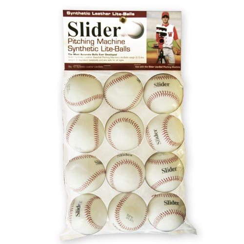 TREND SPORTS SLIDER LITE SYNTHETIC LEATHER PITCHING MACHINE BASEBALLS BY THE DOZEN