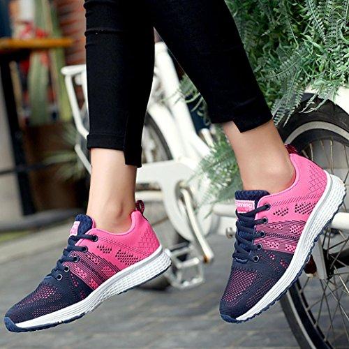 Sportive Scarpe da in da Esecuzione Sneakers BYSTE Leggero Adulto Unisex da Scarpe Yoga Casuale Scarpe Corsa Ginnastica Caldo Rosa Donne Scarpe da Ginnastica w6z6qEa