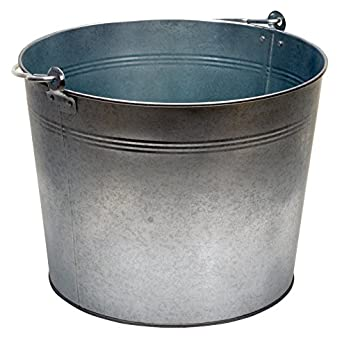 Vestil Bkt Gal 500 Galvanized Steel Bucket  Depth  Pound Capacity Hazardous Storage Cans Amazon Com Industrial Scientific
