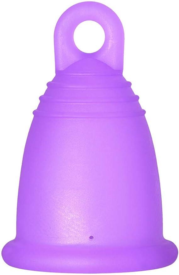 MeLuna Classic Copa Menstrual con Anillo, Color Violeta, Talla XL - 1 Unidad