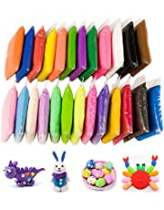 Simuer Air Dry Clay Ultra Light Modeling Magic Clay Non-Toxic Plasticine Dough Creative Art DIY Crafts Gifts for Kids