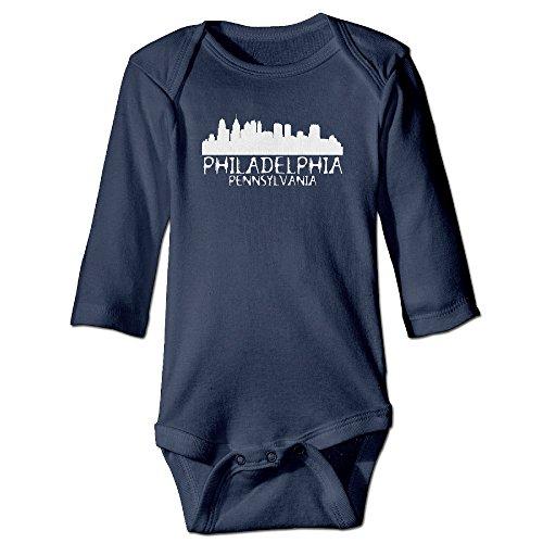 (Philadelphia City Skyline Silhouette Baby Onesie Bodysuit)