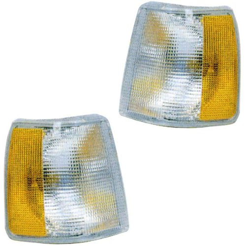 Volvo 740 Turbo (1991-1995 Volvo 940 & 960 (for Models without Fog Lights, non-Turbo), 1990-1992 Volvo 740 Corner Park Light Turn Signal Marker Lamp Pair Set Right Passenger And Left Driver Side (1994 94 1993 93 1992 92 1991 91 199090 1989 89 1988 88))