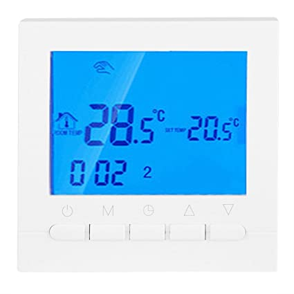 Garosa Heating Thermostat WiFi Wireless Digital Thermostats Clear Comfort Programmable Large Easy to Read LCD Screen