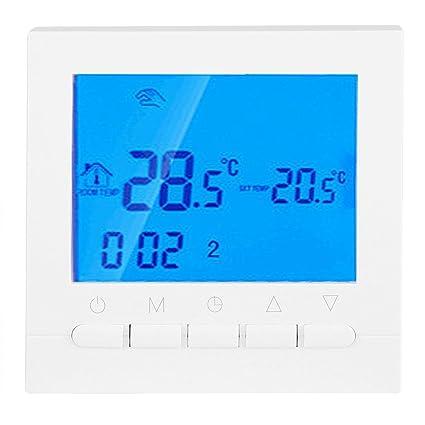 Termostato De Calefacción WiFi Termostatos Digitales Inalámbricos Confort Claro Programable con Pantalla Grande Fácil De Leer
