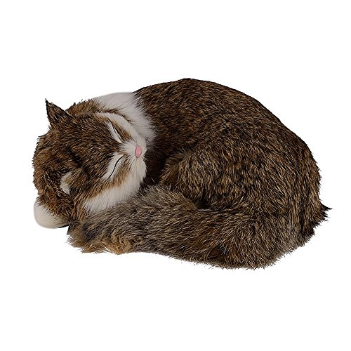 BESTLEE Sleeping Cat Plush Tabby Soft Toy (Pattern (Brown Tabby Cat)