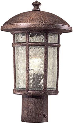 Minka Lavery Outdoor Post Lights 8256-61 Cranston Exterior Lighting Fixture, 75 Watts, Rust