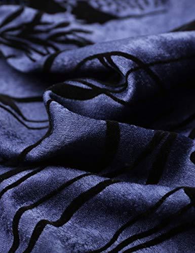 Bleu DJT vase FASHION Violet Fleurs Taille Femme Grande Mi Imprim Longue Jupe wPaxwqpr
