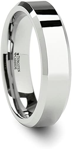 Thorsten Peaks Mountain Range Outdoors Landscape Ring Flat Tungsten Ring 8mm Wide Wedding Band from Roy Rose Jewelry