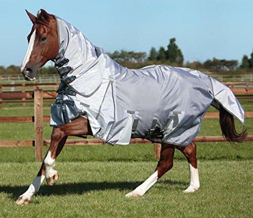 Premier Equine Super Lite Fliegendecke mit Halsteil und Bauchlatz