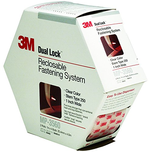 (3M 70070428456 MP3560 1-Inch by 5-Yard Dual Lock Reclosable Fastener System, Clear)