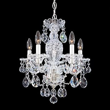 Schonbek 2999-40H Swarovski Lighting Sterling Chandelier, Silver