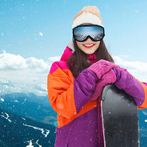 6dbc01b089 WhiteFang Ski Goggles PRO Snow Snowboard Goggles Magnet Dual Layers  Interchangeable Lens Over Glasses Design Anti