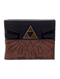 Legend Of Zelda Triforce Metal Logo Mix Material Bi-Fold Wallet