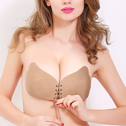 f16d388e364a1 Garne T Women Strapless Bra Self Adhesive Wing Shape Silicone Invisible  Push-up Bra