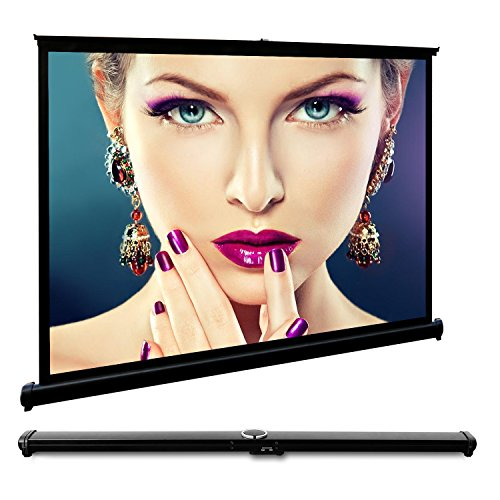 50 inches Portable Projector Screen Pull Down 4:3 Tabletop F