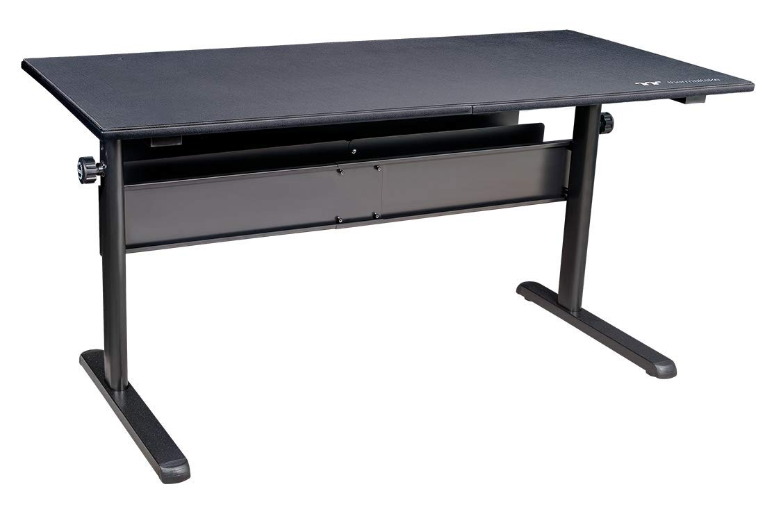 Thermaltake Tt Gaming Level 20 Gt Battlestation Computer Gaming Desk, Adjustable Heights, Scratch Resistant Surface, Full-Sized Desk Mat, GD-LBS-BRHANX-01